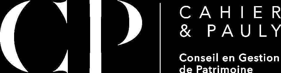 Logo Blanc Cahier et Pauly Patrimoine